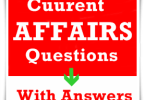 current affairs August Question Paper