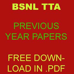 BSNL TTA EXAM Previous Papers Download