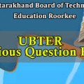 UBTER Previous YEar Papers