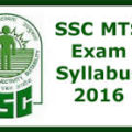 SSC Multi Tasking Staff- MTS Exam Syllabus Exam Pattern 2016