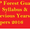 HP Forest Dept. Previous Year Question Papers