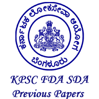 KPSC FDA/SDA Previous Year Question Papers with Answers