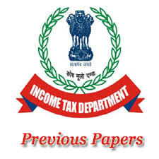 income tax previous year question papers with answers